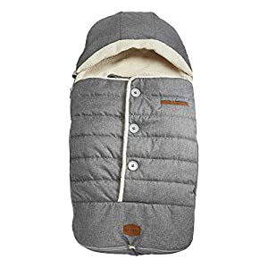 JJ Cole - Urban Bundleme, Canopy Style Bunting Bag to Protect Baby from Cold and Winter Weather in Car Seats and Strollers, Heather Grey, Toddler