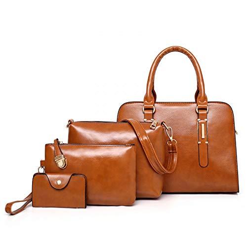 diseño para Diagonal Negro Hombro de versátil GSYDDJB Bolso marrón Mujer multipieza SwU01q