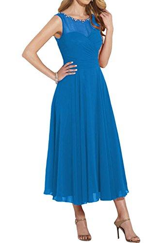 Festliche Charmant Rot Kleider Festlich Blau Ballkleider Chiffon Partykleider Damen Neu Langes Abendkleider r8qzrH5w