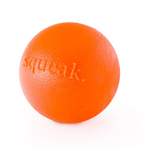Planet Dog Orbee-Tuff Squeak Ball – Nearly Indestructible Dog Ball, Tough and Durable Dog Chew-Fetch Toys for Chasing, Retrieving and Training – Medium 3-Inch Dog Ball.
