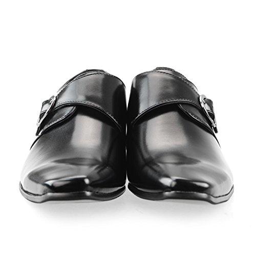 Mm / One Correa Para Hombre Monk Zapatos Oxford Zapatos Zapatos De Vestir Puntera Lisa Tacón Zapatos Negro Marrón Oscuro Mpt125-5 Negro