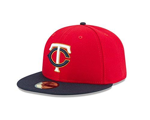 MLB Minnesota Twins Alt 2 AC on Field 59Fifty Fitted Cap, Size 7 3/8, Red (Alt 2 Cap)