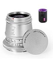 TTartisan 17mm F1.4 Wide-Angle Lens, Compatible with APS-C Nikon Z-Mount Mirrorless Cameras Z5 Z6 Z6 II Z7 Z7 II Zfc Z50 (Silver)