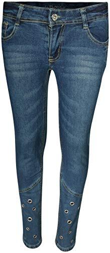 dollhouse Girl's Denim Skinny Jeans with Fashion Designs 1