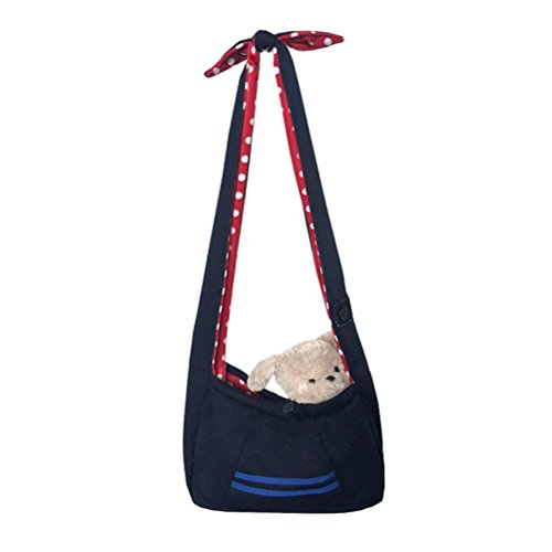 Freerun Pet Portable Sling Carrier Comfortable, Breathable, Lightweight Pet Carrier for Small Dogs Cats (Dark (Fancy Dress Free Delivery)