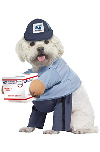 California Costumes US Mail Carrier Pupdog Costumes, Pet, Blue, Large - http://coolthings.us