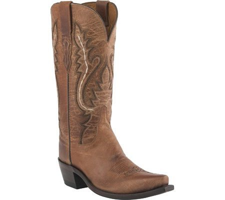 Lucchese, Donna, Fatto A Mano, 1883, Cassidy, Cowgirl, Stivale, Snip, Toe, Tan, 6, 6 W Us