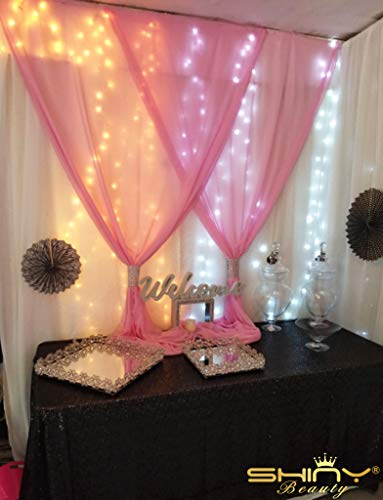Sequin Curtains 2 Panels 2FTx8FT Baby Pink Glitter Backdrop Pink Sequin Photo Backdrop Backdrop Curtains~M1120