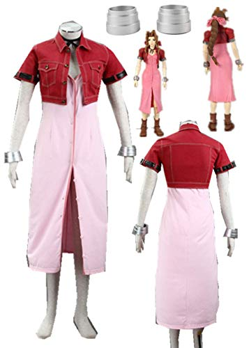 (YOUYI Final Fantasy VII Cloud Halloween Cosplay Costume Aerith Full Suit Halloween (Female S))