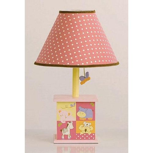 CoCaLo Tropical Punch Pink and Yellow Girls Lamp with White Polka Dots Shade by Cocalo