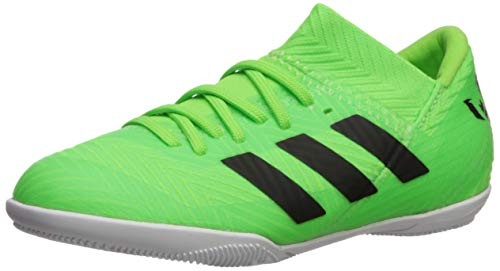 adidas Unisex Nemeziz Messi Tango 18.3 in J Running Shoe, core Black/Solar Green, 13.5K M US Big Kid (Indoor Soccer Shoes Messi Kids)