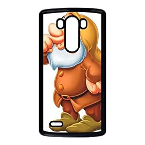LG G3 Phone Case Black Disney Snow White and the Seven Dwarfs Character Dopey ES7TY7888896
