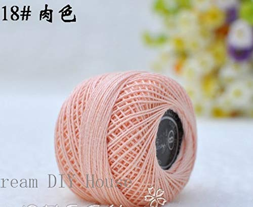 Maslin 10 Rolls Pink Color 9s/2 100% Cotton Stitch Embroidery Thread Crochet Thread Hand Cross Embroidery Thread