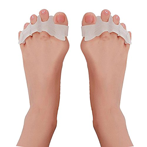 Toe Separator,Toe Spacers for Men Women Toe Bunion Pain Correct Relief Toe Straightener for Hammer Toe by Explore Lifez. (1 pair)
