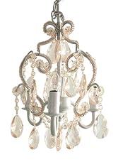 3 Bulb Mini-Chandelier - Clear/White