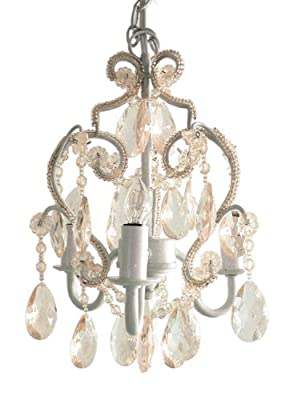 3 Bulb Mini-Chandelier - Clear/White
