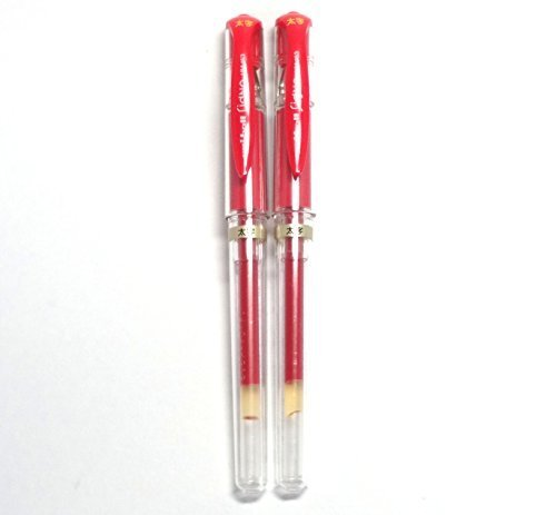 Uni-Ball Signo Broad Point Gel Impact Pen Red Ink Refills Japa Set of 5 1.0mm