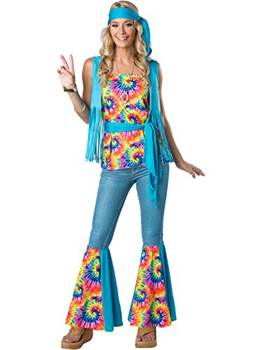 Women's Babe in Blue Hippie Costume