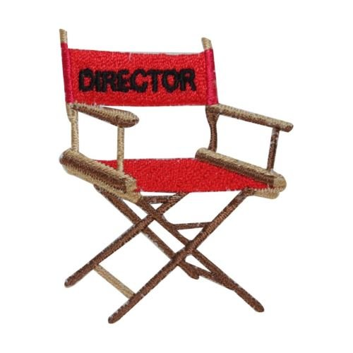 ID 3089 Director Movie Chair Patch Filming Theater Embroidered Iron On Applique for Accessories - Bags/Purses, Apparel - Coat/Jacket, Apparel - Jeans/Pants, Children, Crafts by (Movie Chairs)