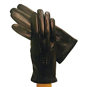 Men's Italian Leather Gloves. Lined in Cashmere. By Solo Classe