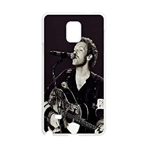 Coldpaly Chris Martin Samsung Galaxy Note 4 Cell Phone Case White toy pxf005_5802001