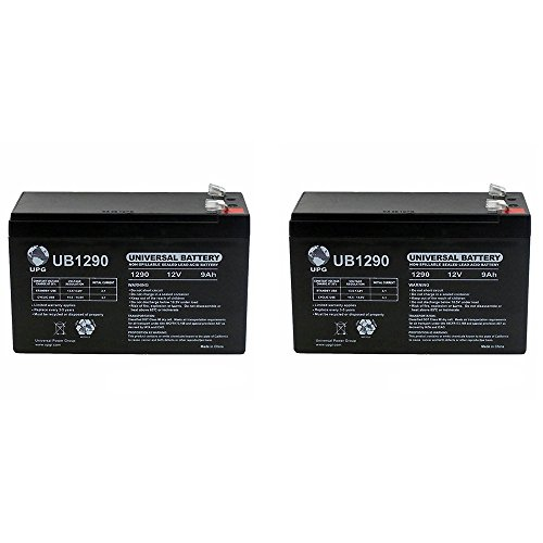 VICI Battery Brand Product 2 Pack 12V 9Ah SLA Battery for LiftMaster Mega Swing Gate Operator