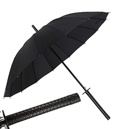 Kurop Samurai Sword Handle Umbrella Ninja Katana Japanese Long Umbrella with 16 Ribs
