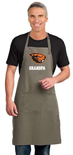 Oregon State Beavers University Grill - Broad Bay OSU Beavers Grandpa Apron Large Size Oregon State Grandpa Aprons for Men or Women