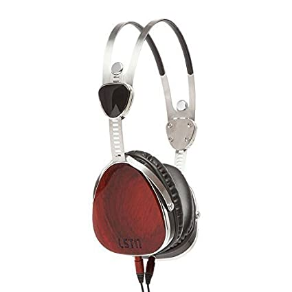 Amazon.com  LSTN Troubadours Cherry Wood On-Ear Headphones with in ... 537e8f06a9