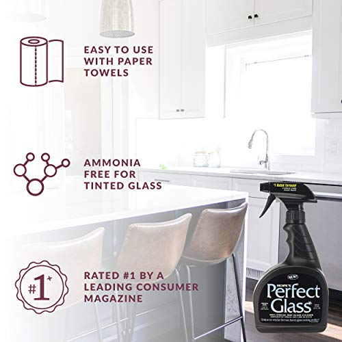 HOPE'S Perfect Streak-Free Glass Cleaner, Less Wiping, No Residue 32 Ounce, Pack of 2