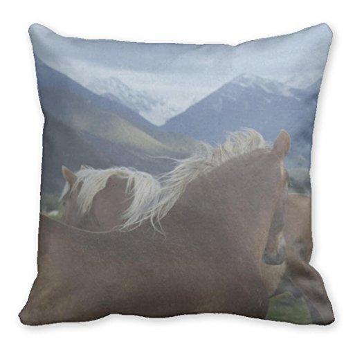 Funny ship Horses Decorative Pillow Covers Equine Home De...