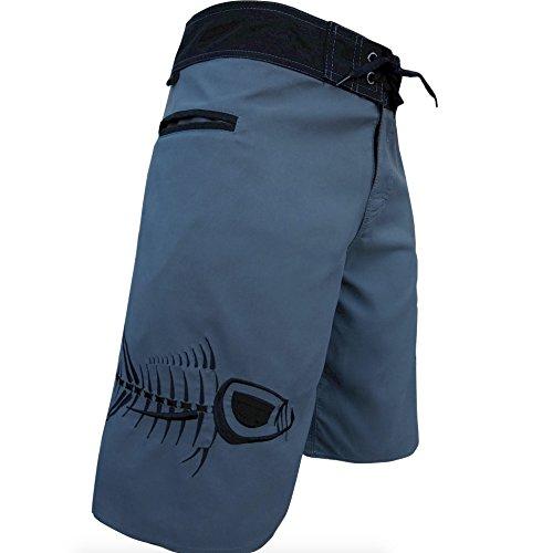 Tormenter Men's 5-Pocket Waterman Fishing Board Shorts (Gray, ()