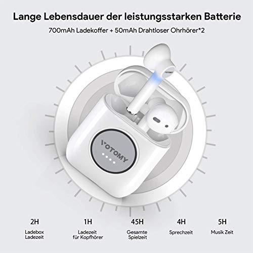 [2021 Ultimo Modello] Cuffie Bluetooth 5.0 Auricolari Bluetooth Senza Fili, 45H Ore, CVC 8.0, Cuffie Wireless Sport in Ear con Touch Control, IPX7 Impermeabile, Custodia Di Ricarica