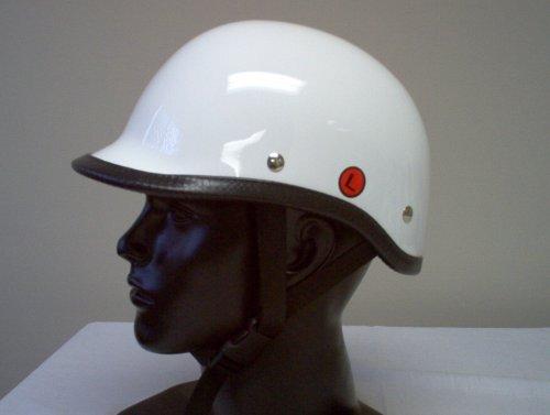 Polo Gloss White Novelty Biker Riding Helmet X Large