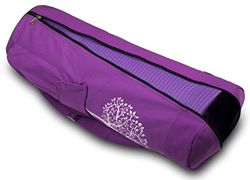 BalanceFrom GoYoga Full Zip Exercise Yoga Mat Bag with Multi Functional Storage Pockets [Fits Both 1/2 Inch and 1/4 Inch Thick Mats]