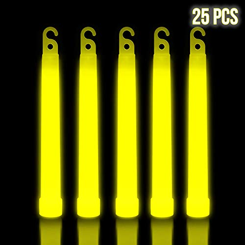 Yellow Glow Sticks - Lumistick 6 Inch Premium Glow Sticks