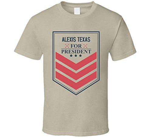 Alexis Texas For President Funny Best Ever Female Celeb Cool Fan T Shirt Xl Tan Amazon Com