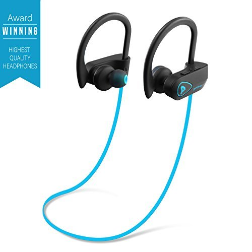 Primewire Powerbuds Bluetooth Earbuds  The Best Wireless Sports Earphones W  Mic Ipx7 Waterproof Hd Stereo Sweatproof In Ear Earbuds For Gym Running 8 Hour Battery Noise Cancelling Headphones  Blue