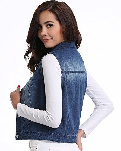 Boutonn Jean Denim Womens Jacket Veste Femmes ETwqXBnE