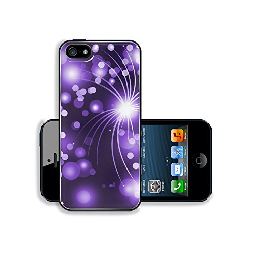Luxlady Premium Samsung Galaxy S5 Aluminium Snap Case purple abstract line with (Free Banner Templates)