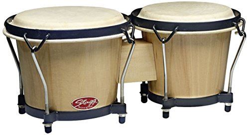 Wooden Bongos (Stagg BW-70-N 6-Inch & 7-Inch Traditional Wooden Bongo Set - Natural)