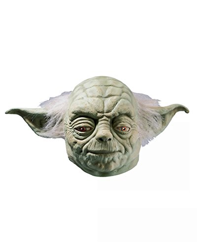 (Star Wars Yoda Adult Full Latex Mask, Green, One Size Costume)