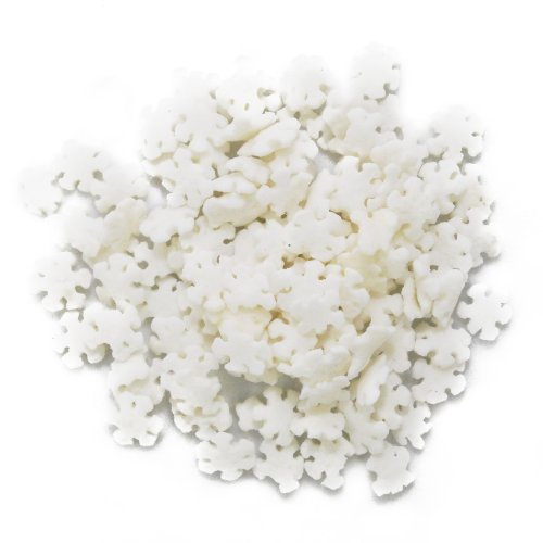 Bakery Crafts DMC27280 Decorating Edible Cake and Cookie Confetti Sprinkles, Winter White Snowflakes, 2.4-Ounce ()