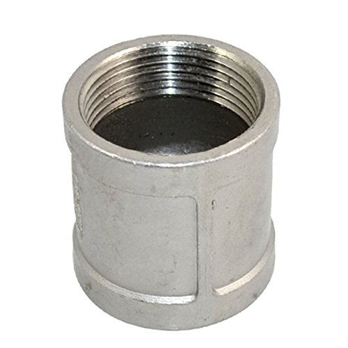 - Stainless Steel SS SUS304 Threaded Cast Pipe Fitting, Coupling, 1-1/4