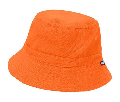 City Threads Big Boys' and Girls' Solid Wharf Hat Bucket Hat for Sun Protection SPF Beach Summer - Orange - XXL(7-12)