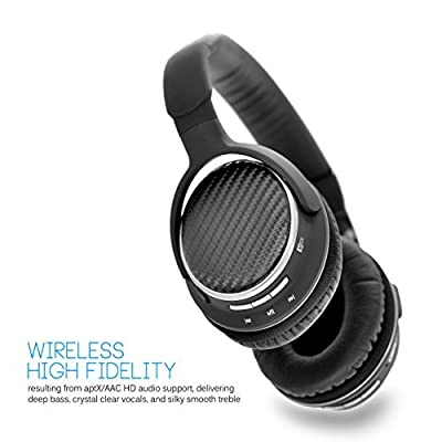 MEElectronics Air-Fi Matrix2 Bluetooth Wireless + Wired High Fidelity Headphones with Headset and aptX