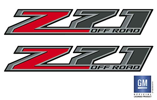 EmblemsPlus 2014 2015 2016 2017 Chevy Silverado 1500 2500 Truck Z71 Off Road Bed Side Decals Stickers Set of (2) GM Official Licensed Product (Off Bed Road Sides)