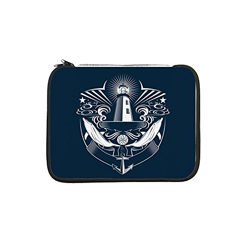 13 Inch Laptop Sleeve Lighthouse Crest Anchor Dolphins ()