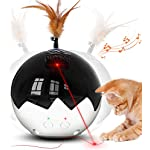 2021 Newest Cat Laser Toy,3 in 1 Interactive Tumbler Ball,Laser and Feather Toys for Pet Automatic Kitten Chaser Toy…