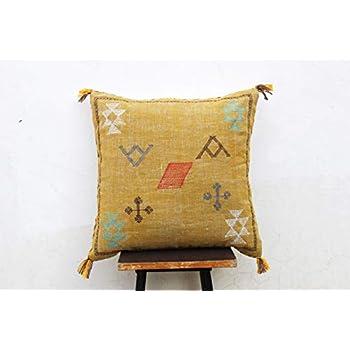 Amazon.com: Cojín de almohada de seda marroquí con diseño de ...
